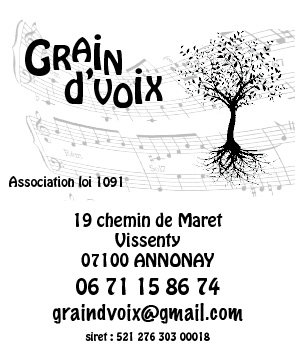 logo de l'association GRAIN D'VOIX